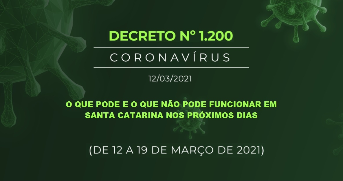 DECRETO Nº 1200 DO ESTADO DE SANTA CATARINA